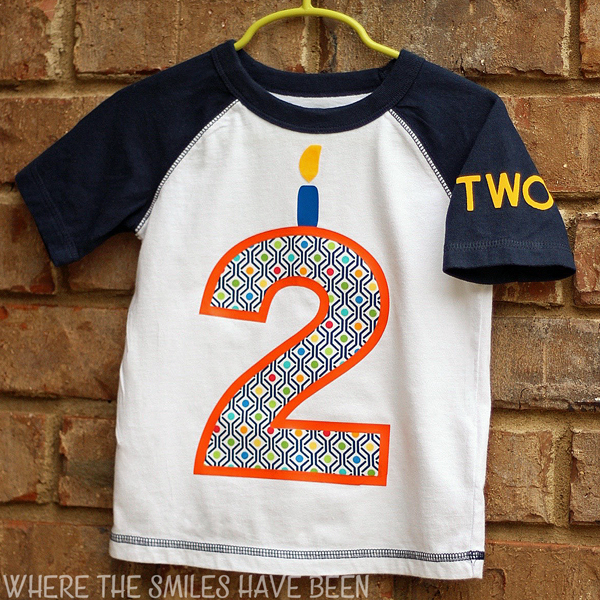 DIY Toddler Birthday Shirt With HTV And Fabric Applique