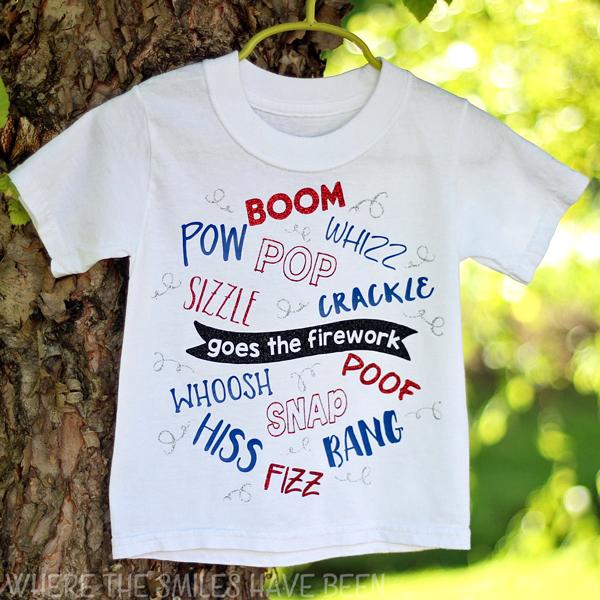 fea102c16 Boom! Snap! Bang!: Fourth of July Firework T-shirt!