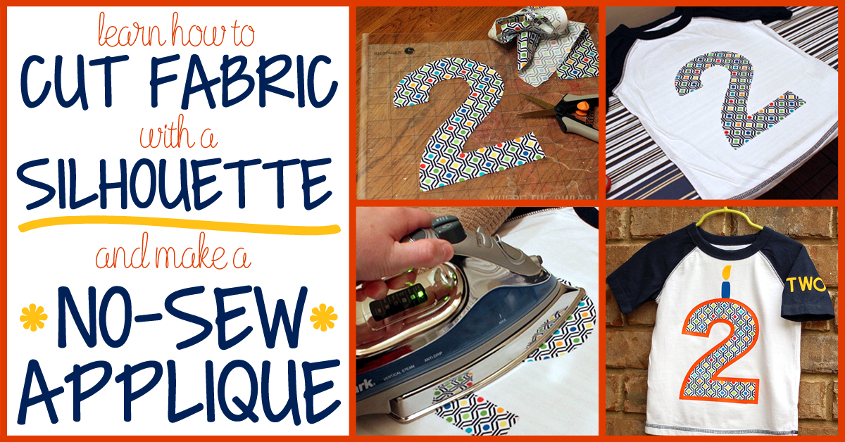 How To Cut Fabric And Make A No Sew Appliqu 233
