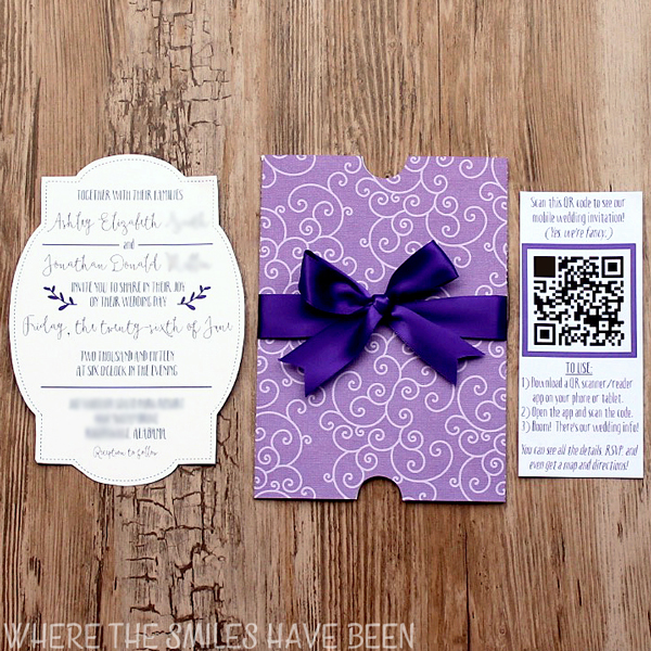Diy Wedding Invites With Mobile App Qr Code Free Cut Files