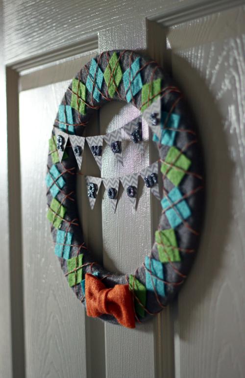 Baby Boy Nursery Wreath