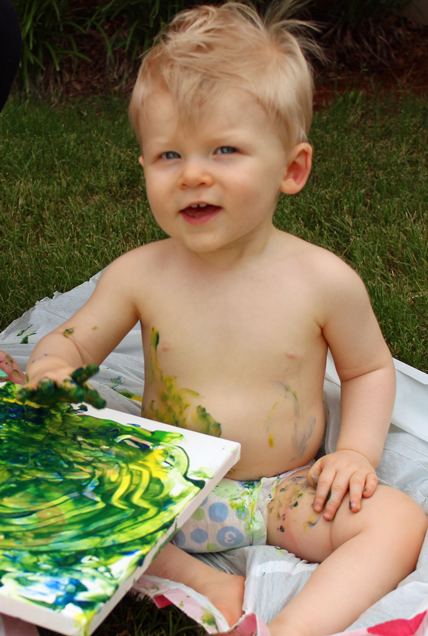First Birthday Art Canvas: The Start of a Fun Tradition! | Where The Smiles Have Been #firstbirthday #birthday #birthdaytradition