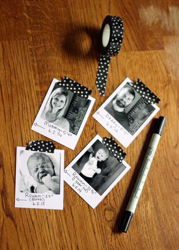 How to Make a Family Growth Chart Ruler (with Yearly Photos!) | Where The Smiles Have Been