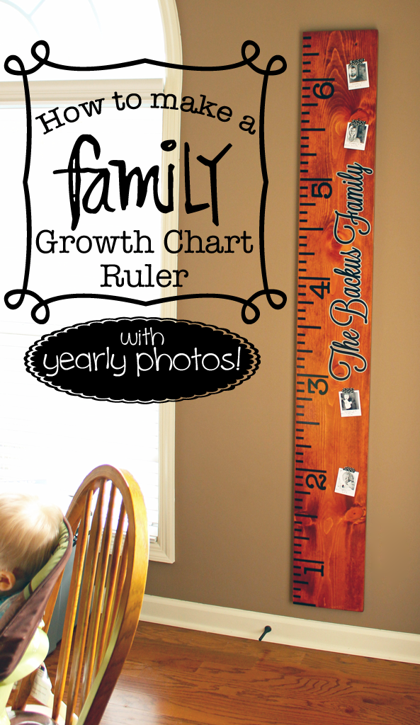 How To Make A Growth Chart Ruler With Yearly Photos