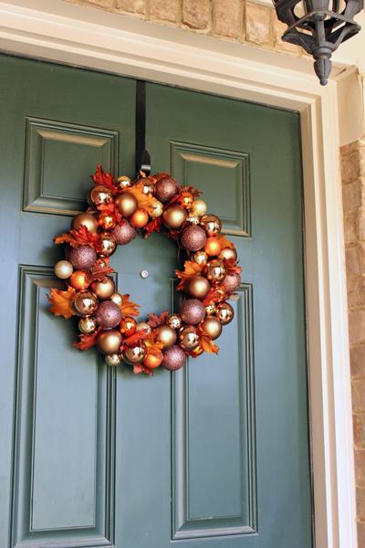 Fall Ornament Wreath