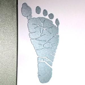 Newborn Footprint Vinyl Decal
