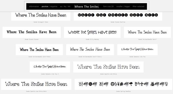 Wordmark.it helps you choose fonts