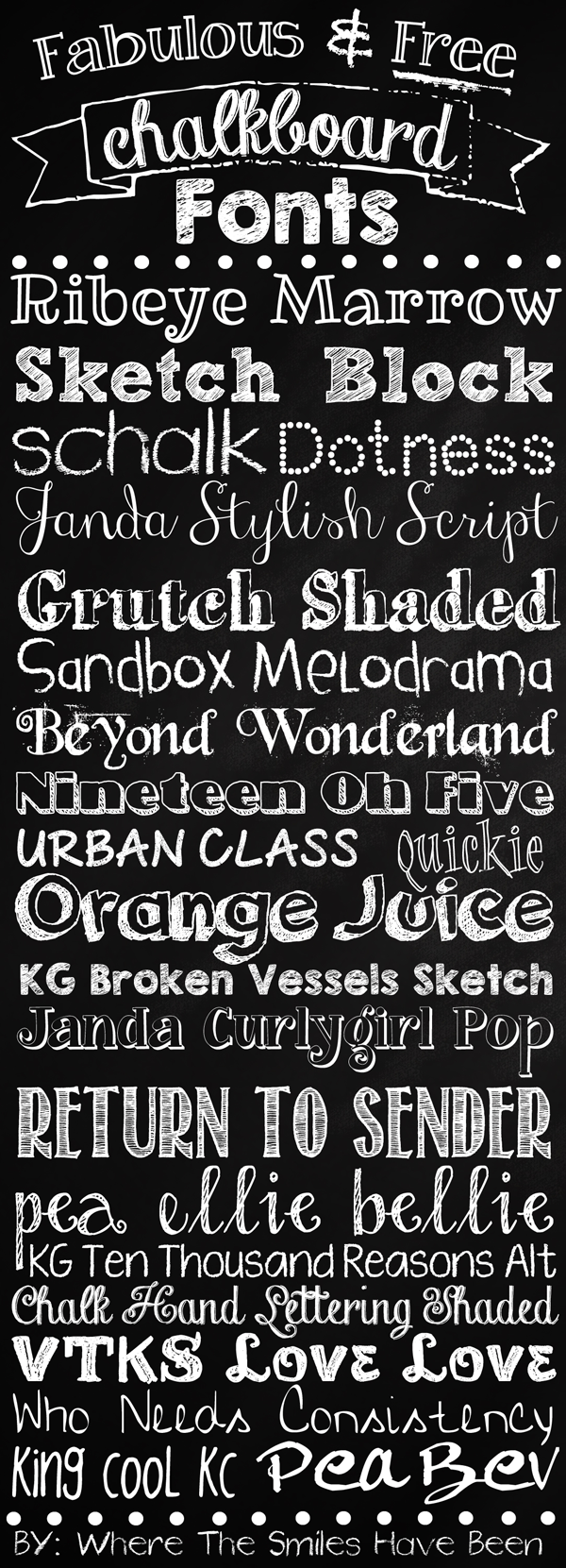fabulous  u0026 free chalkboard fonts