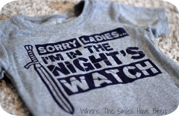 DIY Game of Thrones Night's Watch Shirt