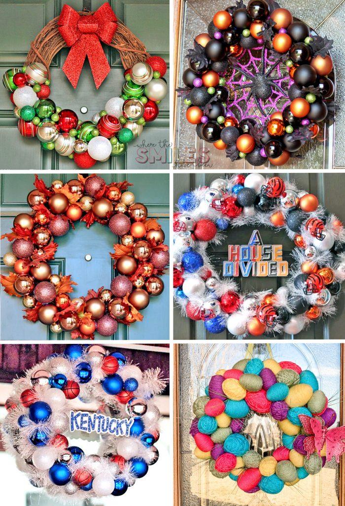 Ornament wreath examples!