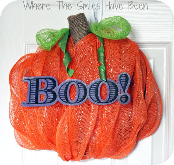 Pumpkin Wreath via Where The Smiles Have Been