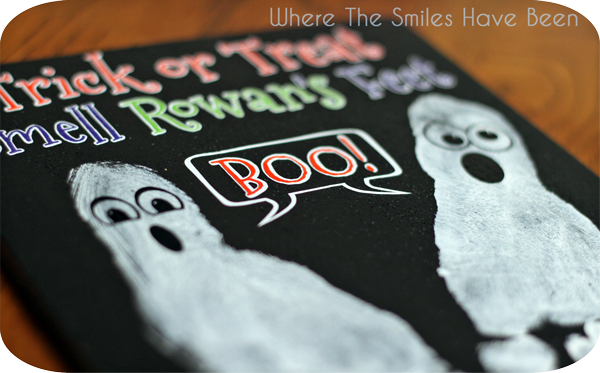 Halloween Footprint Craft: A Ghostly Keepsake! | Where The Smiles Have Been