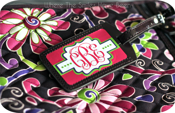 Monogram Luggage Tag (and FREE Cut File)