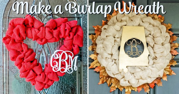 How to Make a Burlap Wreath In Less Than 30 Minutes! | Where The Smiles Have Been #wreath #burlap #burlapwreath