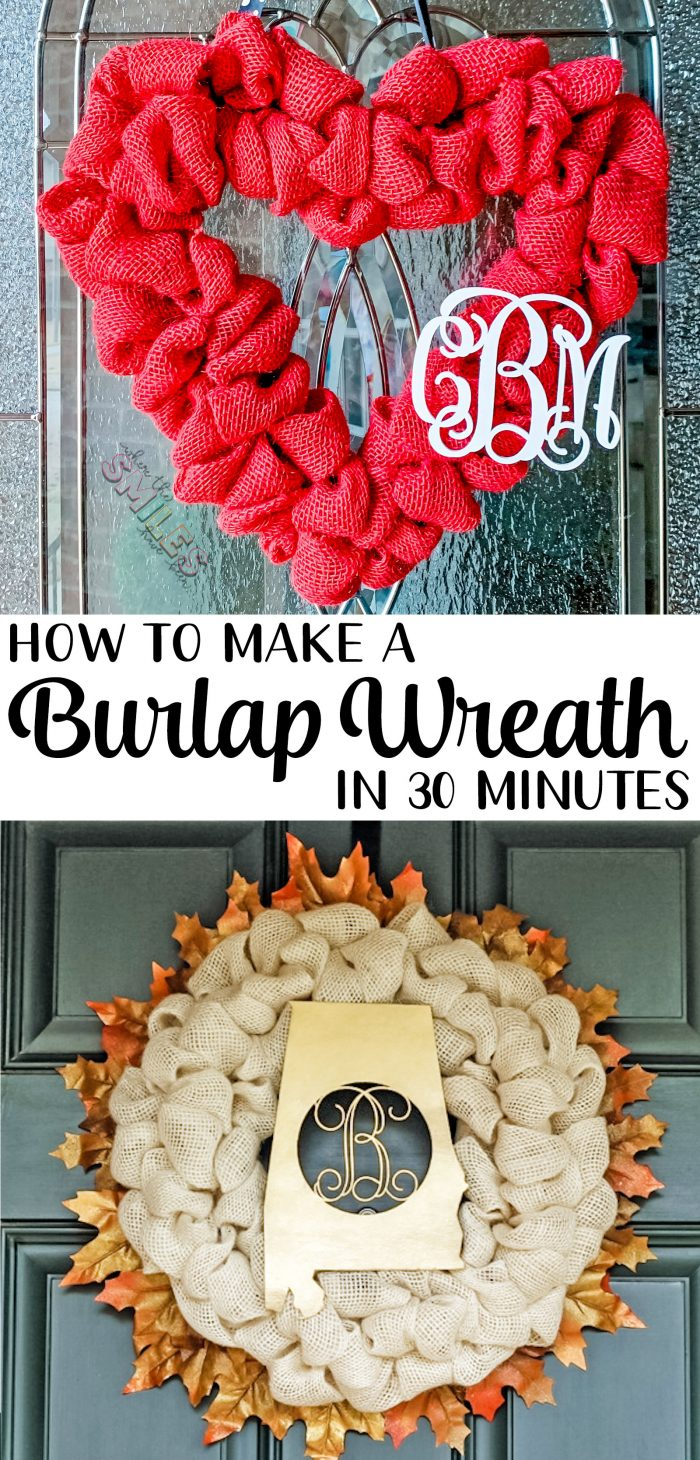 How to make a burlap wreath in 30 minutes