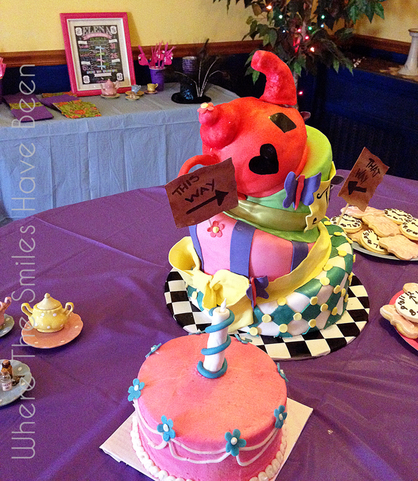 Classic Alice in Wonderland Birthday Chalkboard