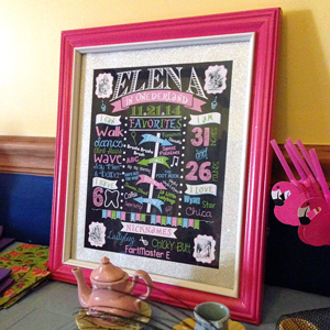 how to make a first birthday chalkboard sign