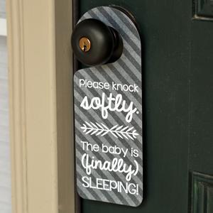 Sleeping Baby Door Hanger Tutorial and FREE Cut File