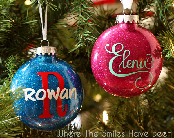 Christmas Ornaments With Names On Them.Diy Personalized Glitter Ornaments