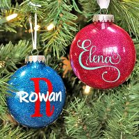 How to make glittered personalized ornaments!