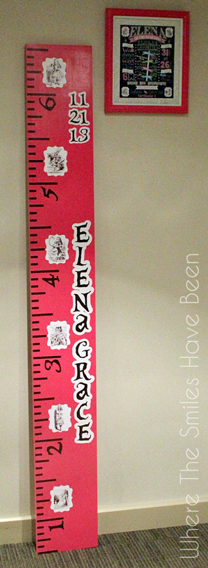 Alice in Wonderland Growth Chart Ruler | Where The Smiles Have Been