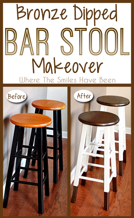 DIY Bronze Dipped Bar Stool Makeover   Where The Smiles Have Been