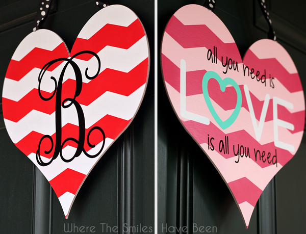 dual sided valentines day door hanger