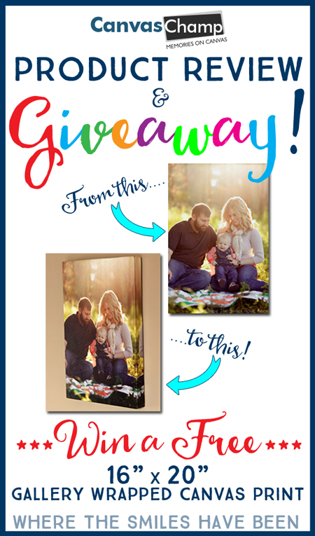 Canvas Champ Product Review & GIVEAWAY!   Where The Smiles Have Been