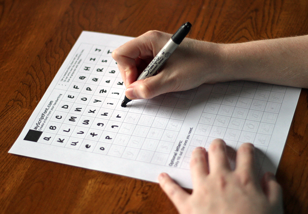 How to Turn Your Handwriting into a Font by filling out the free printable template.