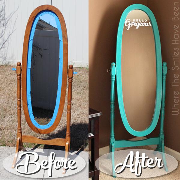 Hello Gorgeous Mirror Makeover With Chalk Paint Vinyl