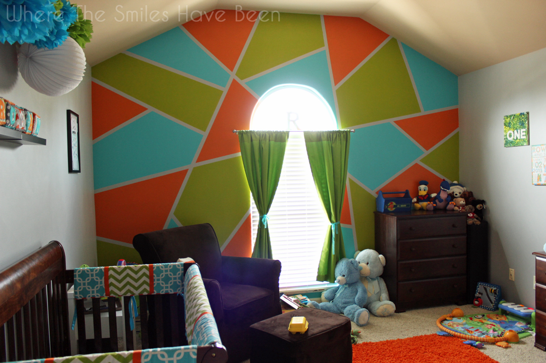 Bright and Bold Accent Wall!