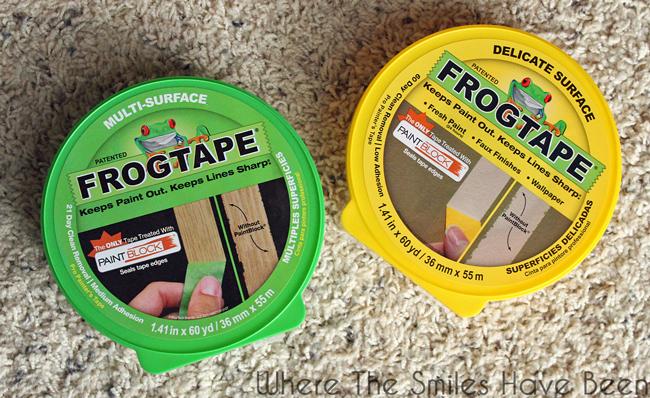 Frog Tape painter's tape rolls.