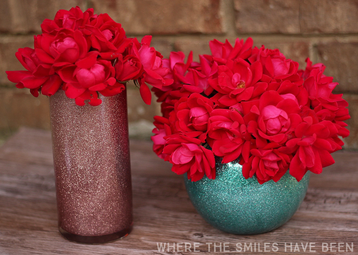 How to Make Glittered Vases | Where The Smiles Have Been