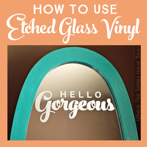 How to Use Etched Glass Vinyl | Where The Smiles Have Been