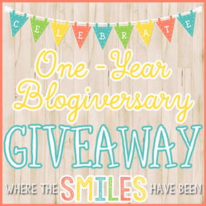 One-Year Blogiversary GIVEAWAY at Where The Smiles Have Been!