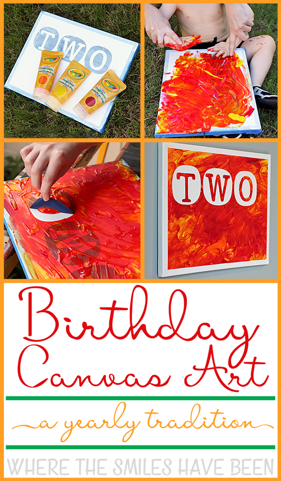Birthday Canvas Art Yearly Tradition: Year Two! | Where The Smiles Have Been