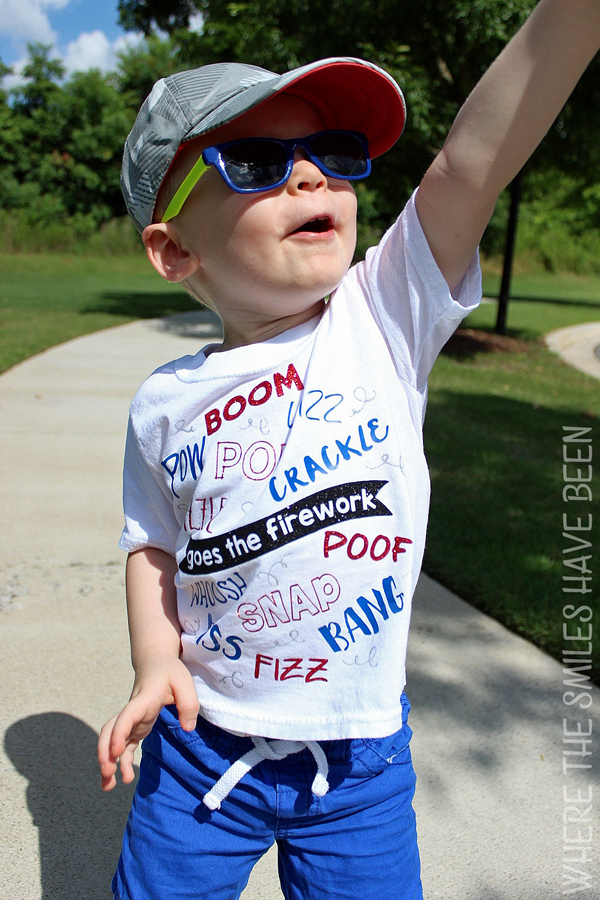 Boom! Snap! Bang!: Fourth of July Firework T-shirt!   Where The Smiles Have Been