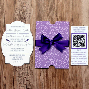 DIY Wedding Invites with a Mobile App and QR Code (and FREE Cut Files!) | Where The Smiles Have Been