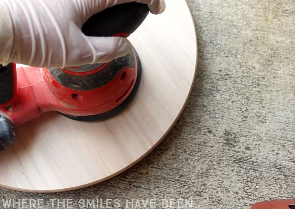 Personalized Lazy Susan IKEA Hack! | Where The Smiles Have Been #Ikea