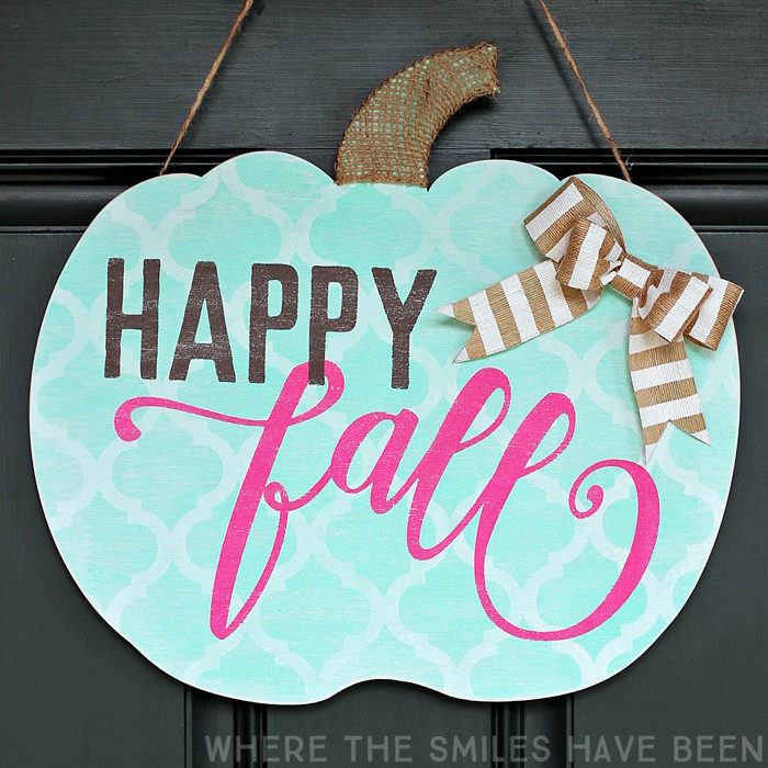 Shabby Chic Happy Fall Pumpkin Door Hanger: My Girly Gourd!   Where The Smiles Have Been