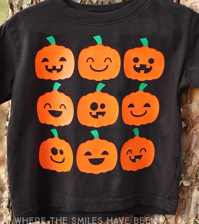 This is just the perfect shirt to wear to the pumpkin patch!! Cute Halloween Jack-O-Lantern Faces Shirt   Where The Smiles Have Been