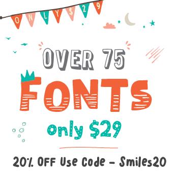 The Hungry JPEG's Fontabulous November Bundle! Save 20% with Code Smiles20!