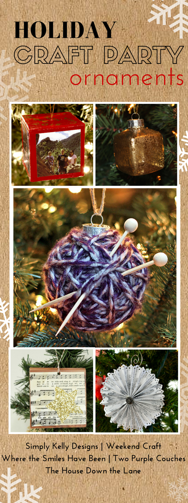 Holiday Craft Party! Day 1: Ornaments, plus an AMAZING Giveaway! | Where The Smiles Have Been
