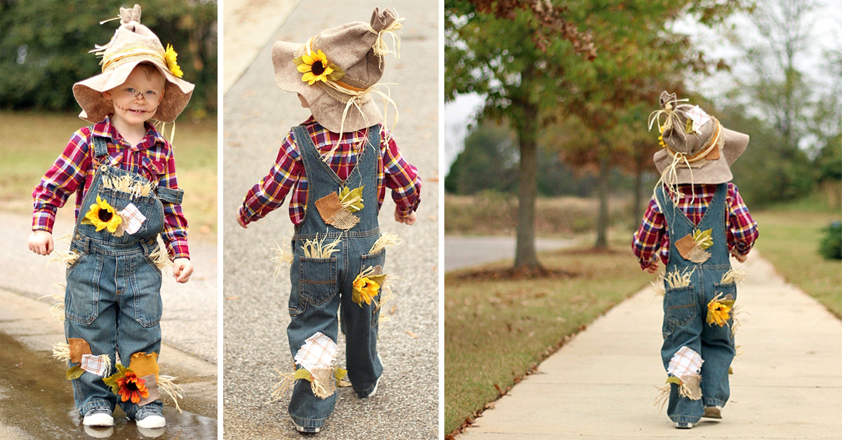 Easy adorable diy scarecrow costume solutioingenieria Choice Image