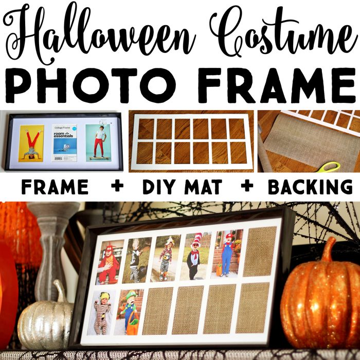 DIY Yearly Halloween Costume Photo Frame | Where The Smiles Have Been #Halloween #costume #HalloweenCostume #keepsake #DIY