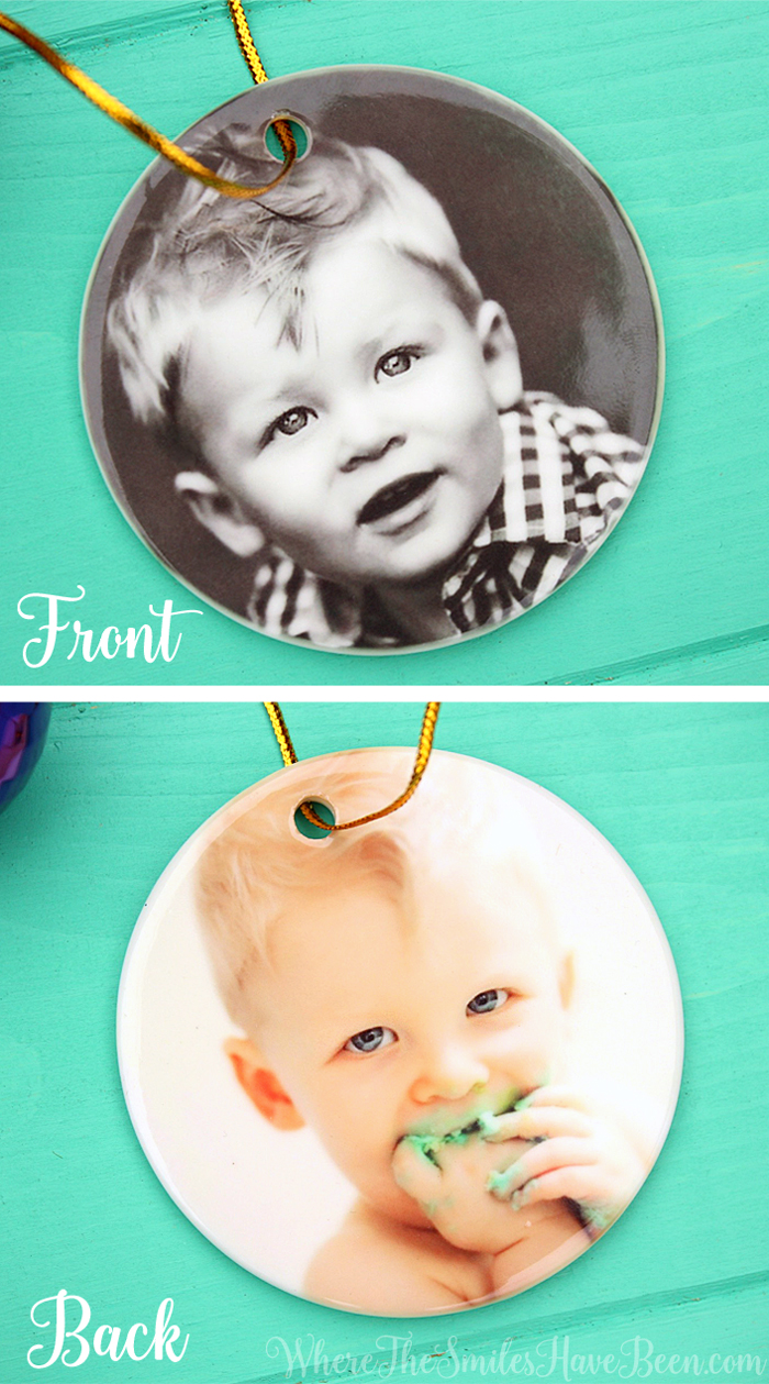 Custom Photo Ornament Gift | Where The Smiles Have Been | #MoreThisHoliday