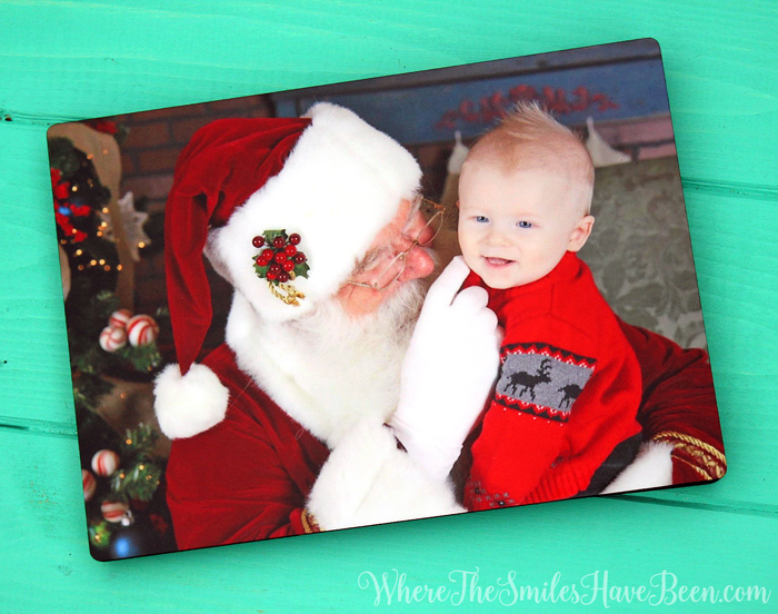 Custom Photo Panel with Easel! Where The Smiles Have Been #MoreThisHoliday