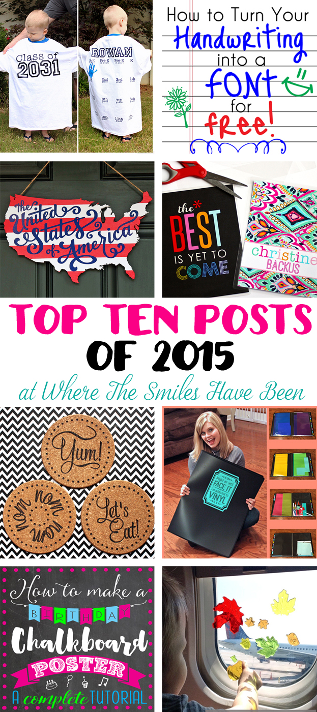 The Top Ten Posts of 2015 at Where The Smiles Have Been!
