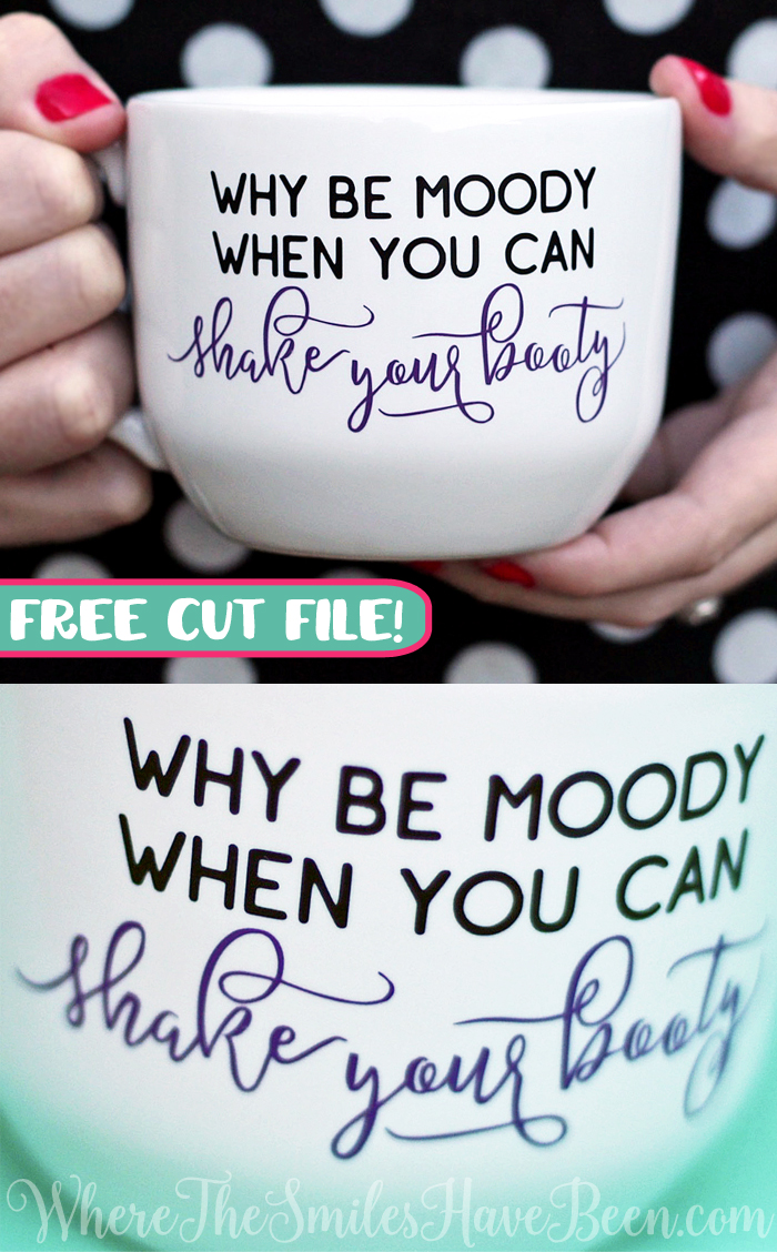 Shake Your Booty Mug & FREE Cut File! | Where The Smiles Have Been