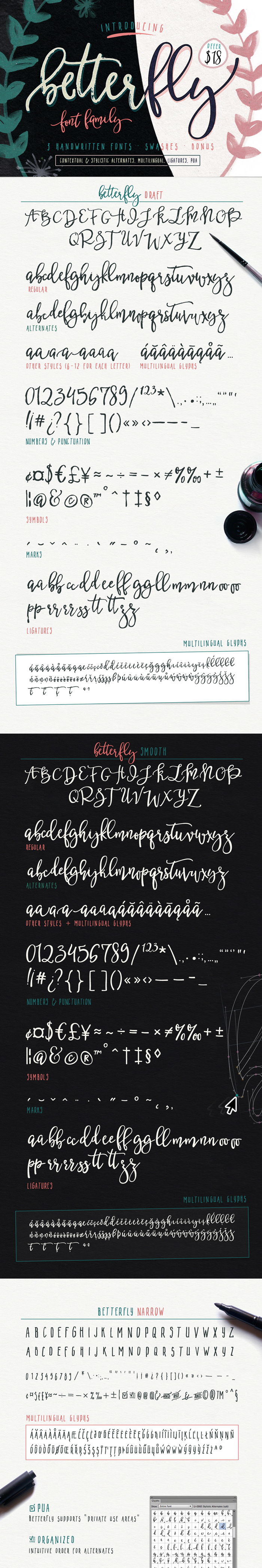 The Hungry JPEG's Jam Packed January Bundle: Betterfly Font